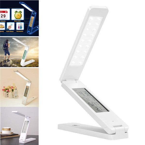 Clearance Dimmable Protect Eyesight Foldable Touch Control Calendar Alarm Clock Temperature Led Desk Lamps-Rama Deals