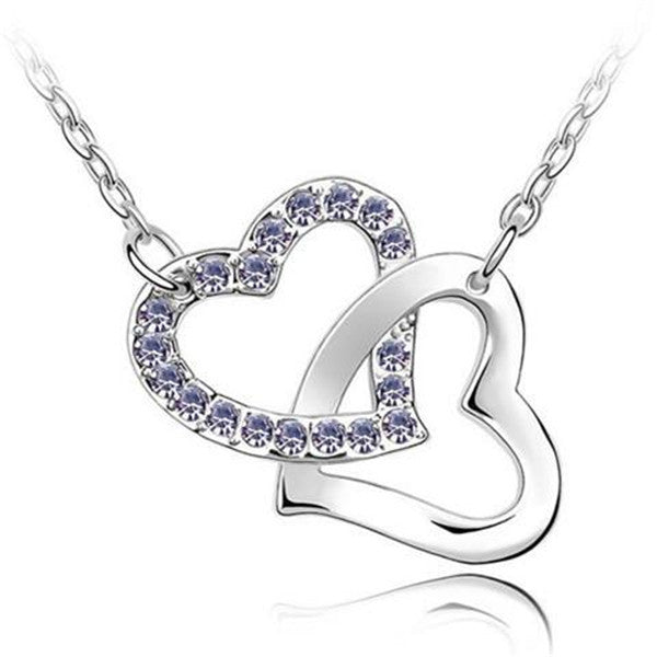 Double Heart Love Lucky Necklace-Rama Deals