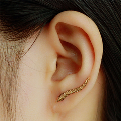 18K Gold Plated Leaf Earrings - Rama Deals