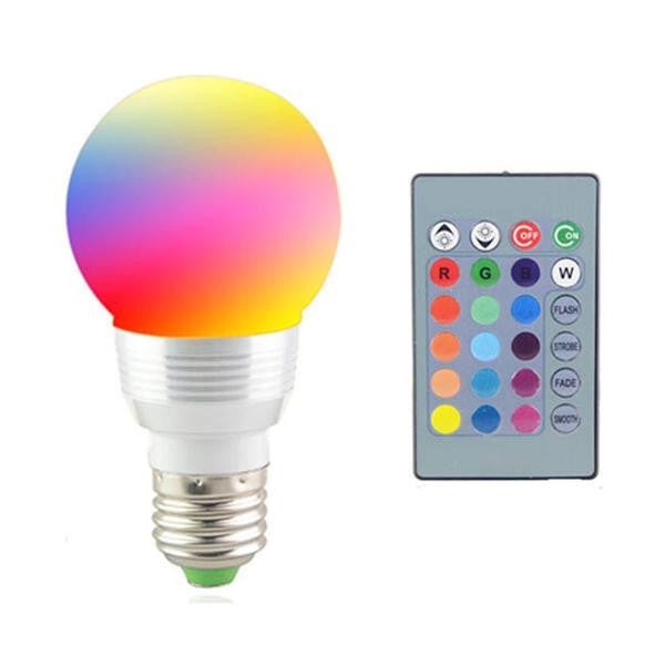 Clearance Changing color Led Spotlight + IR Remote Control-Rama Deals