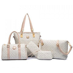 5 Piece Women's Arrow Print Bag Set