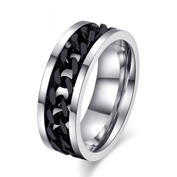 Stainless Steel Chain Rotatable Ring-Rama Deals