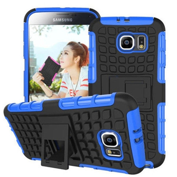 Clearance Shock Proof Hybrid Stand Case for Samsung S6-Rama Deals