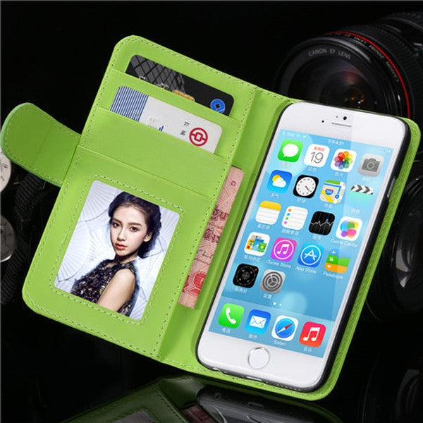 PU Stand Leather Case for iPhone 6 Plus 5.5inch-Rama Deals