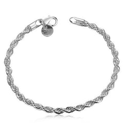 925 sterling silver couple chain bracelets