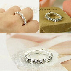 Full Crystal Rhinestone Finger Ring-Rama Deals