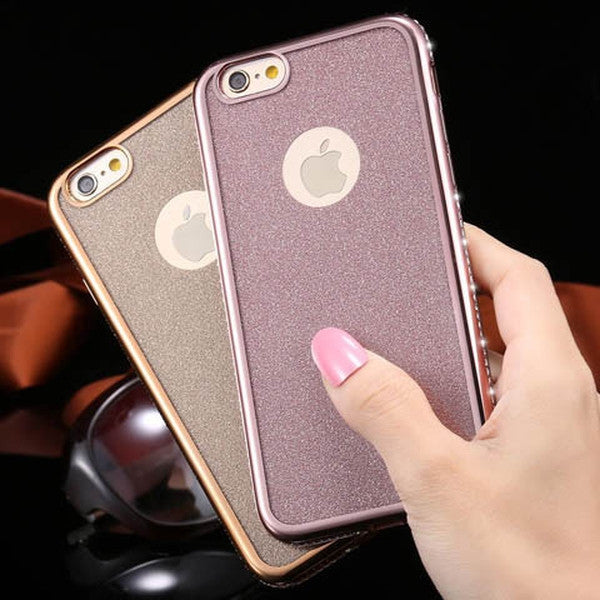 Ultra Thin Shiny Glitter Back Rhinestone Soft Case For Iphone 6s/6s plus-Rama Deals