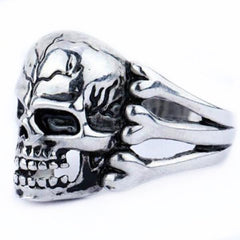 Gothic Men's Skull Zinc Alloy Ring-Rama Deals