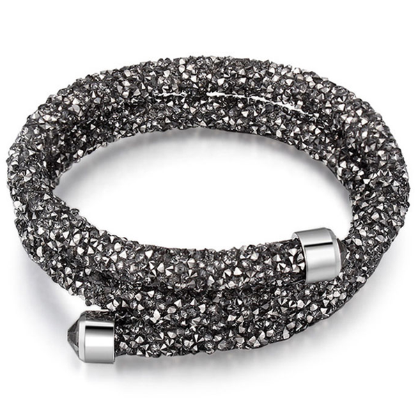 Crystal Dust Double Wrap Bracelet Made with Swarovski Elements - Rama Deals - 5