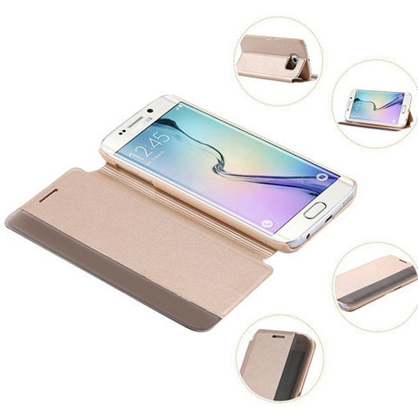 Smart LED Flip Leather Case For Samusung Galaxy S6/S6 Edge/S6 Edge Plus-Rama Deals