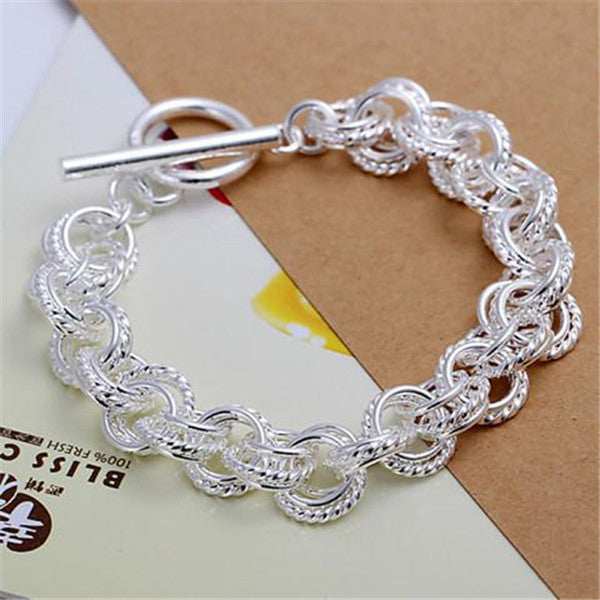 925 Silver Fashion Leading shrimp buckle bracelet-Rama Deals