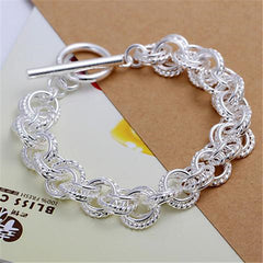 925 Silver Fashion  Leading shrimp buckle bracelet