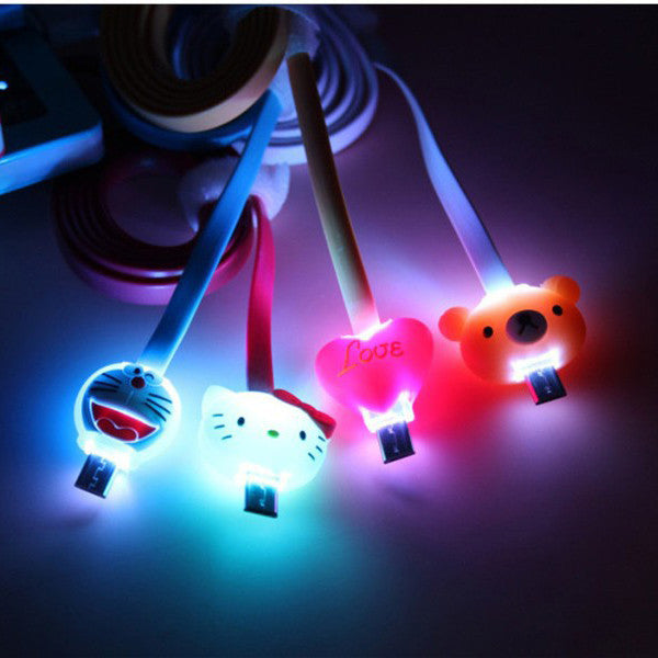 Clearance 1M Cartoon LED Charger Cable-Lilo & Stitch-Rama Deals