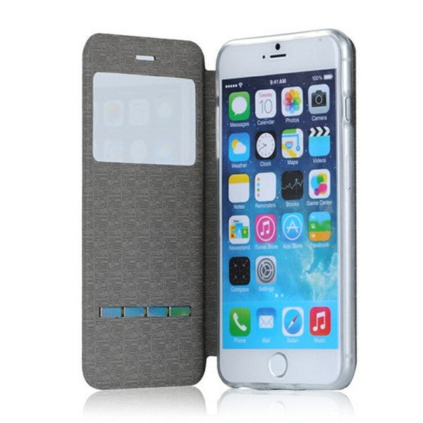 Clearance Window View Flip Case for iPhone 6 Plus-Rama Deals