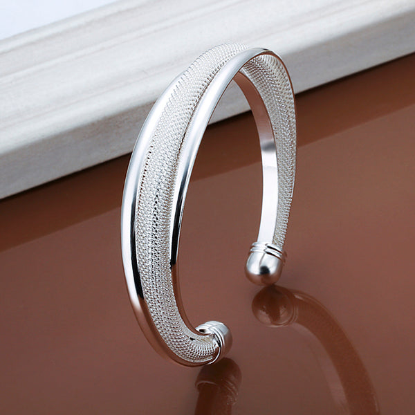 925 Silver Dreamlike Bangle Bracelet-Rama Deals