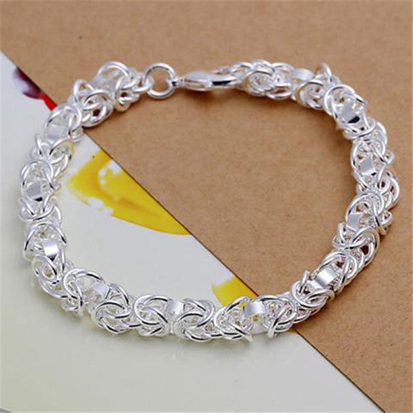 925 Silver Fashion Jewelry New faucet Bracelet-Rama Deals