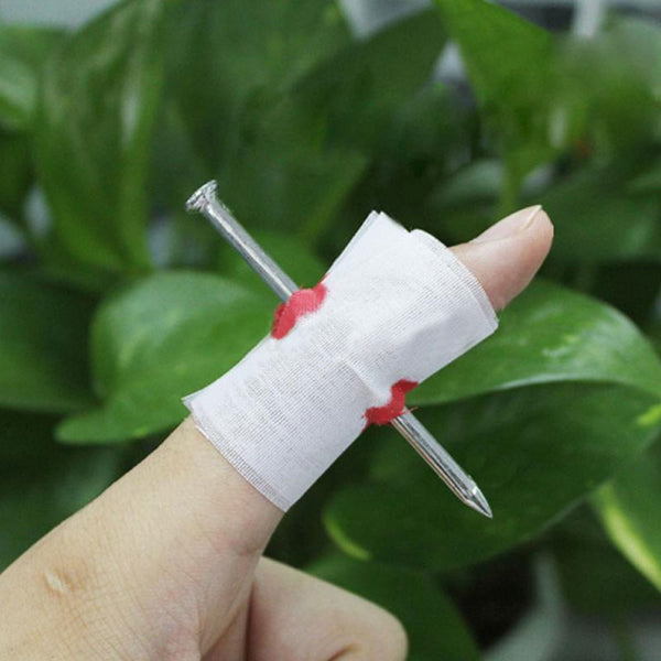 2pcs: Magical Nail Through Finger Trick Toy for Children Adult - WHITE-Rama Deals