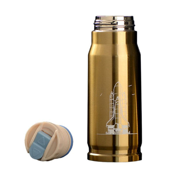 350ml Bullet Stainless Steel Water Bottle-Rama Deals
