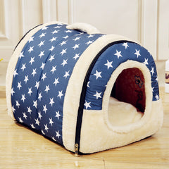 Multifunctional Dog House Nest With Mat Foldable Pet Dog Bed