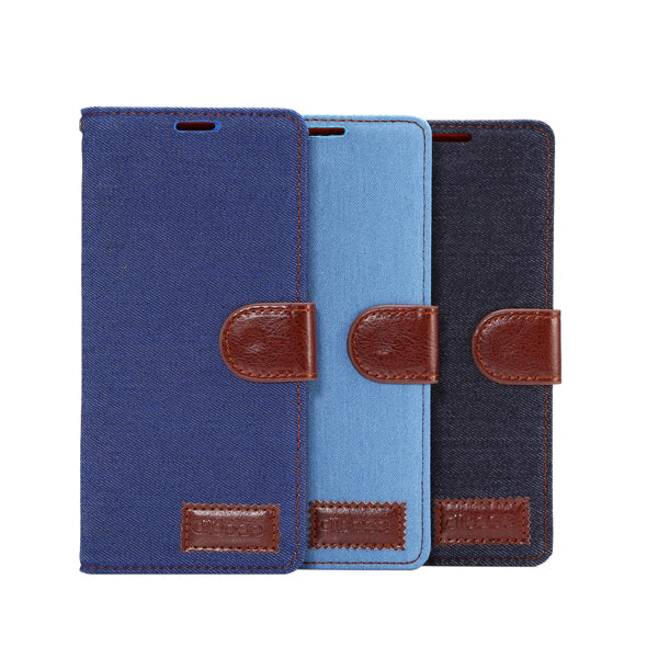 Denim Leather Case With Stand For Samsung Note 8-Rama Deals