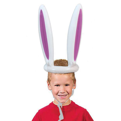 Inflatable Easter Bunny Ears Hat