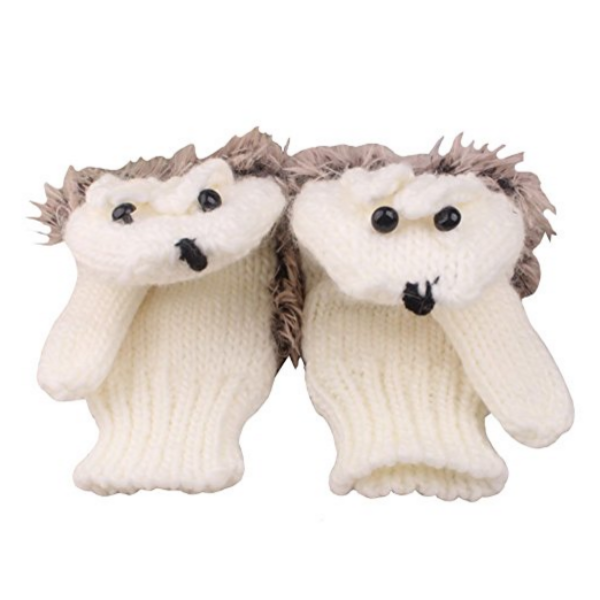 Clearance Hedgehog Knitted Gloves-Rama Deals