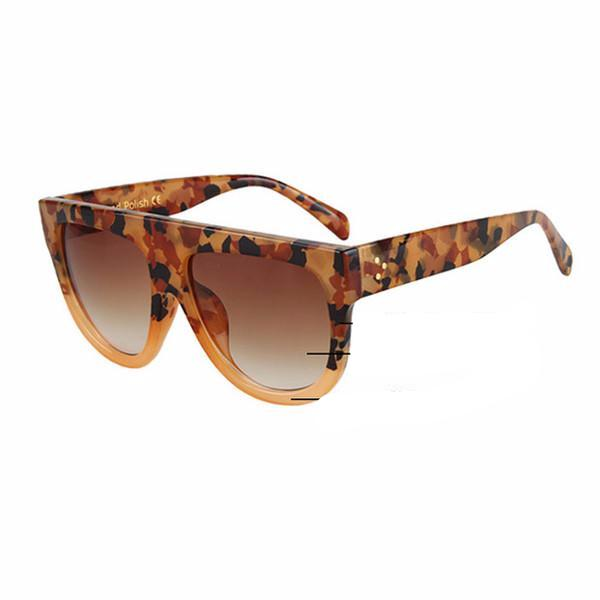 Women Flat Top Mirror Sunglasses Cat Eye Sunglasses