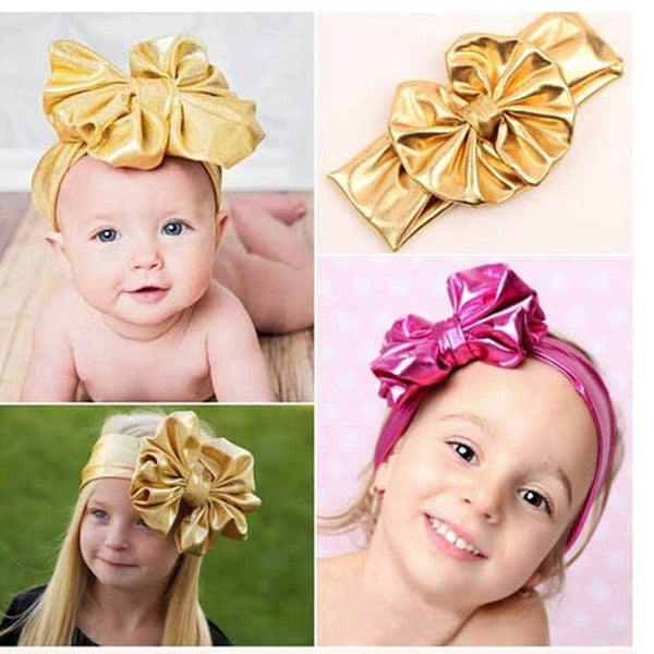 Kids Big Bowknot Stretch Headband-Rama Deals