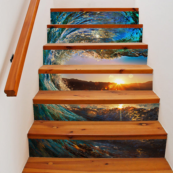 6 Pieces Creative DIY 3D Nature Scenery Stairway Stickers-Rama Deals