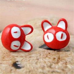 2pcs:Lovely Big Eyes Cat Earrings