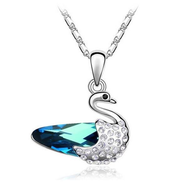 Luxury Swan Crystal Pendant Necklace-Rama Deals