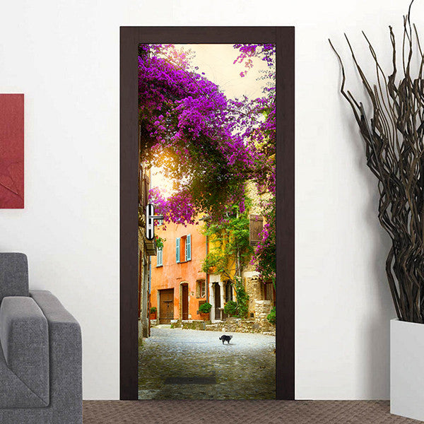 38.5x200cm PVC DIY 3D International Famous Building Door Stickers-Rama Deals