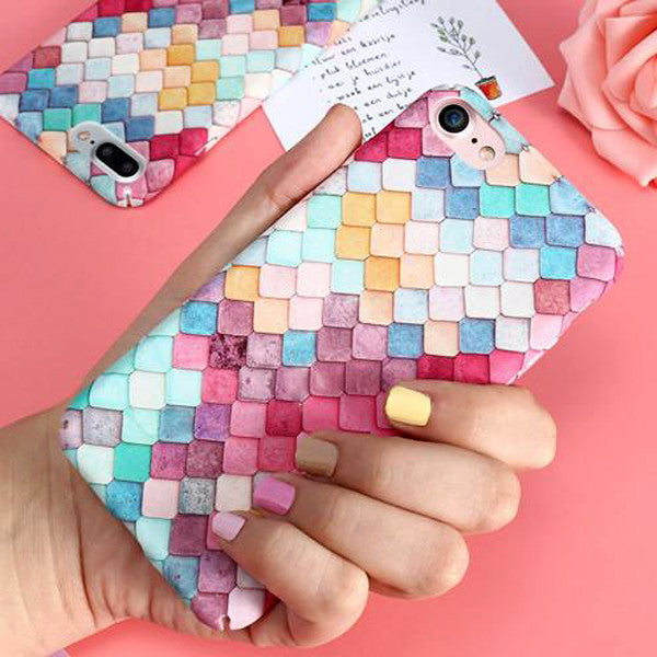 Fashion Colorful 3D Scales Squama Phone Cases For iPhone 6/6 Plus/7/7 Plus-Rama Deals