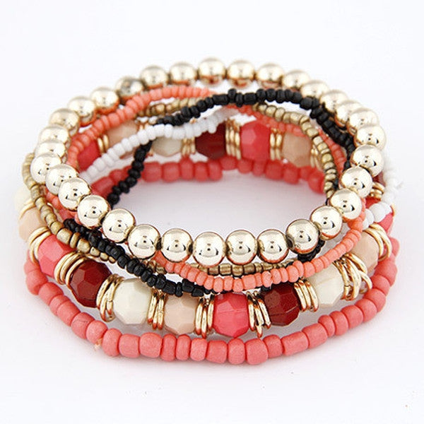 Multilayer Stretch Bohemia Beads Bracelet-Rama Deals