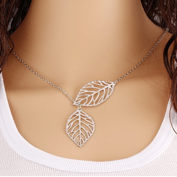 Two Leaves Necklace - Rama Deals - 2