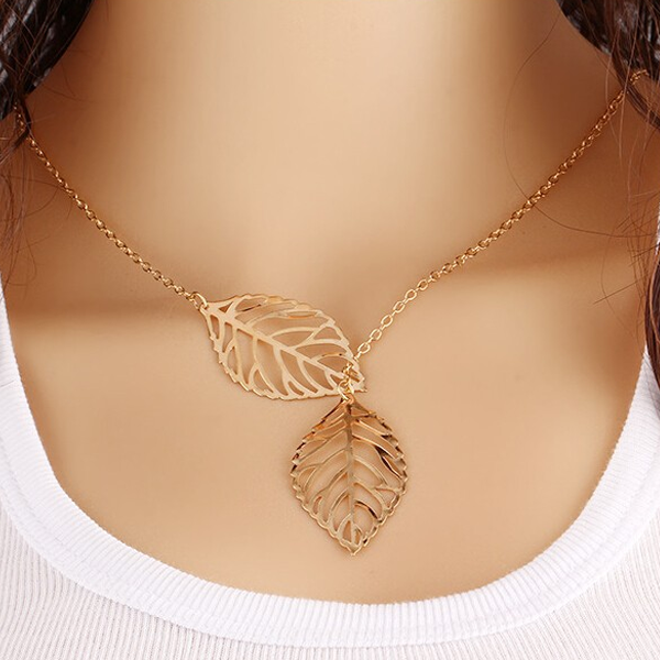 Two Leaves Necklace - Rama Deals - 1