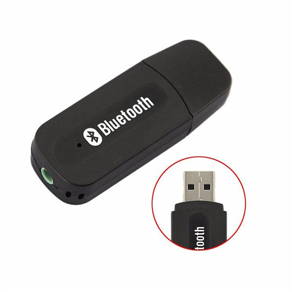 3.5mm Stereo Audio USB Bluetooth Music Receiver Adapter-Rama Deals