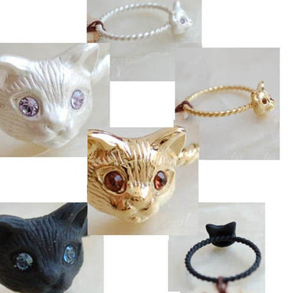 Metal Cut Cat Head Ring-Rama Deals