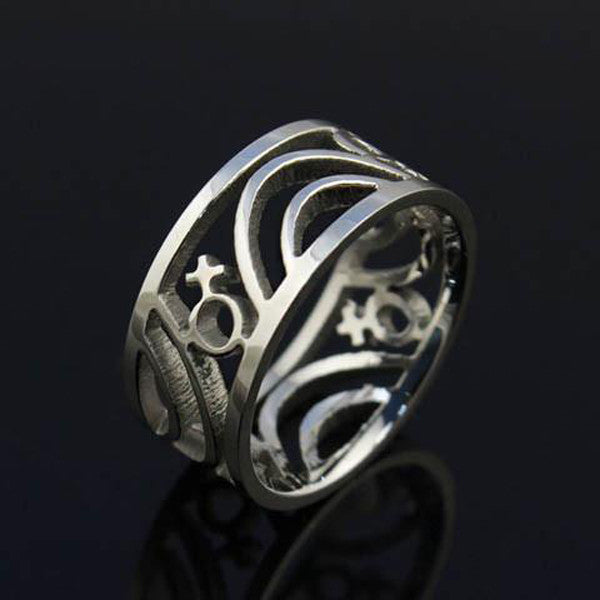 Clearance Gay Pride Ring in Silver or Gold-Rama Deals