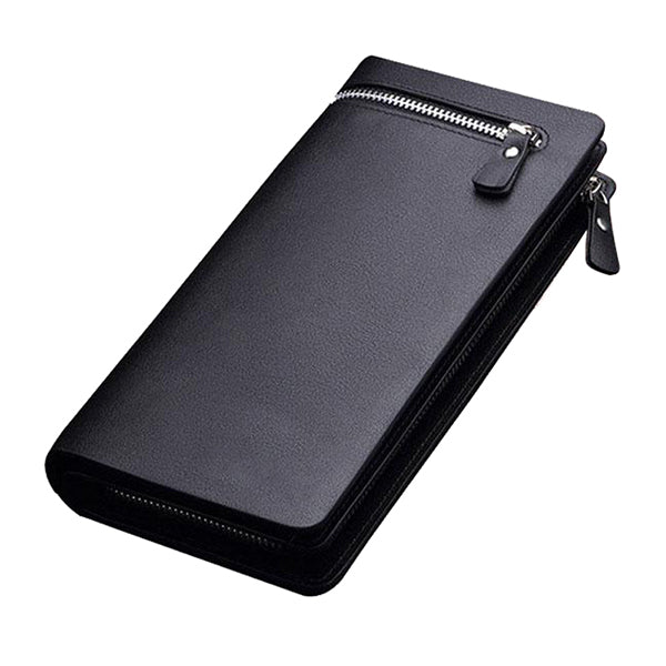 Long Zipper Leather Men Wallet-Rama Deals