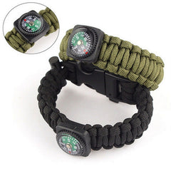 Outdoor 5 in 1 Survival Rescue Bracelet Rope with Compass - Rama Deals - 1
