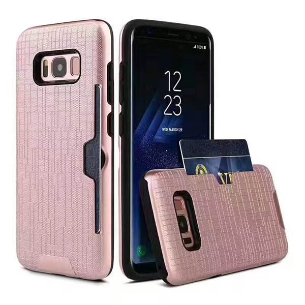 2 in 1 Phone Case with Card Slot For Samsung S8 S8 Plus-Rama Deals