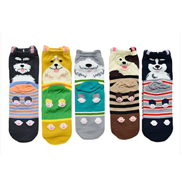 Clearance 2 Pairs Lovely Dog Cartoon Socks for Women-Rama Deals
