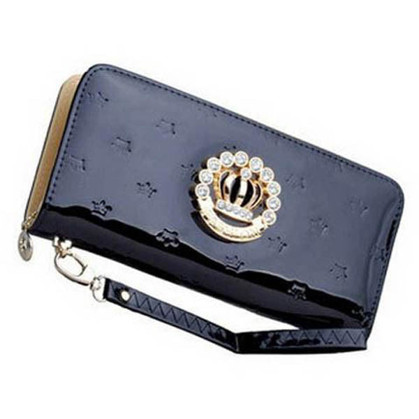 Clearance Women's Rhinestone Long Patent Wallet-Rama Deals