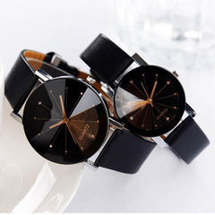 PU leather Analog Quartz Movement Wrist Watch-Rama Deals
