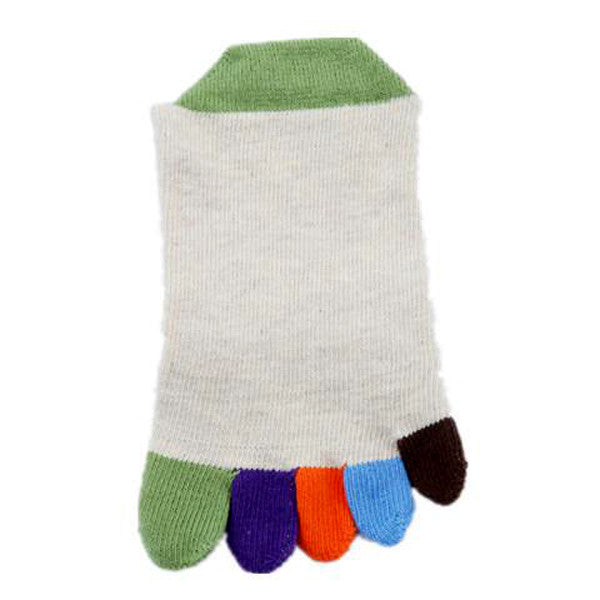 Pair of Stylish Colorful Toe Design Knitted Socks For Women-Rama Deals