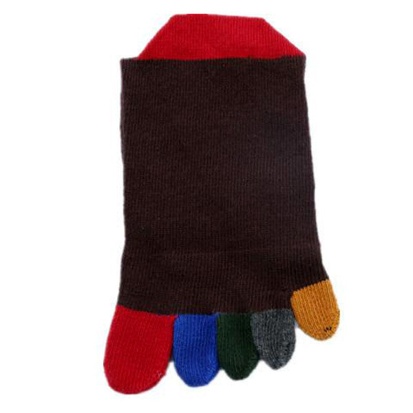 Clearance Pair of Stylish Colorful Toe Design Knitted Socks For Women-Rama Deals