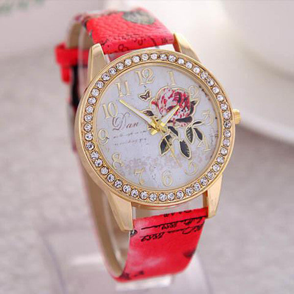 Peony Pattern Digital Quartz Casual Watch-Rama Deals