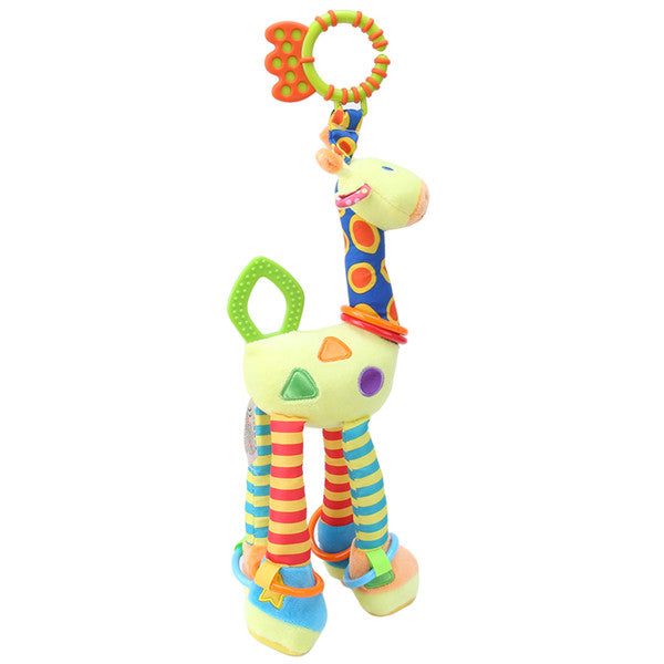 Plush Baby Soft Giraffe Rattles Handle Toys-Rama Deals