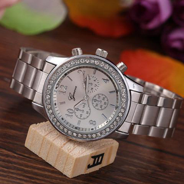 Quartz Stianless Steel Band Watch-Rama Deals